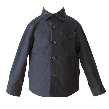 Kids Hopper Hunter by 18 Waits Baby And Child The Weekender Waxed Cotton Jacket - Black