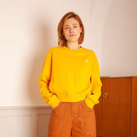 Markey Crew Neck Sweatshirt - Yellow