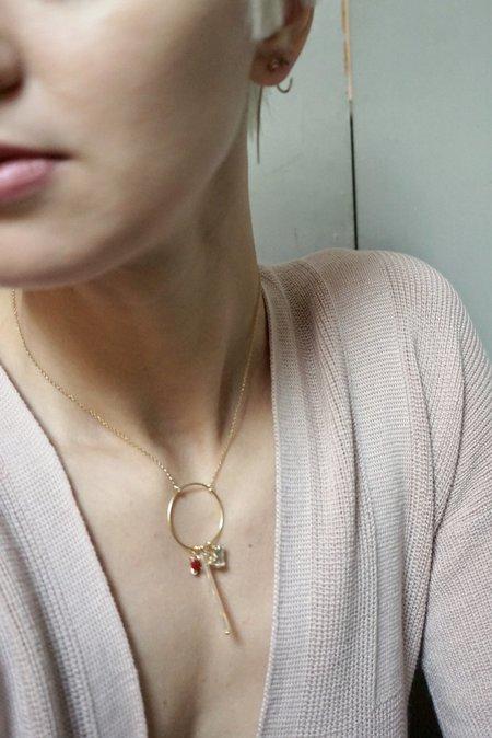 Beatriz Palacios Ring Of Charms Necklace