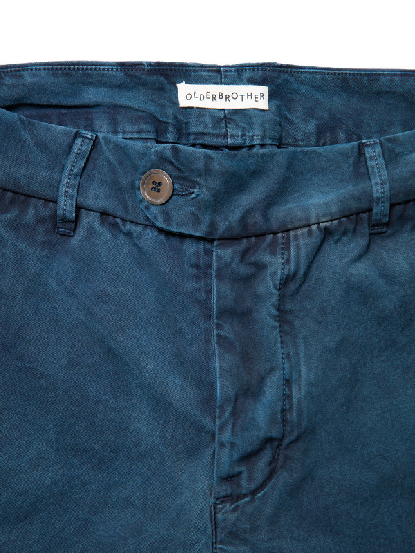Olderbrother Gabardine Trouser | Indigo Plus