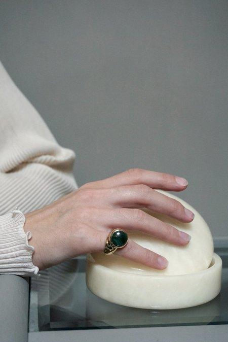 Faris Offset Ring  - Malachite