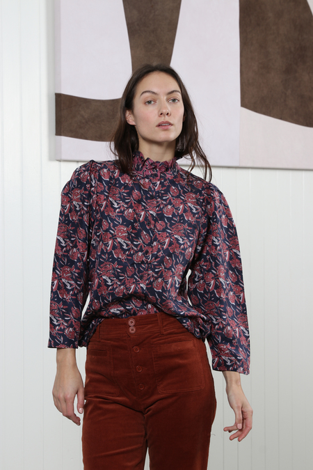 Apiece Apart Marijn Button Up Blouse - Multi Floral