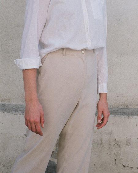 Peso Vintage High Rise Trouser - Ecru