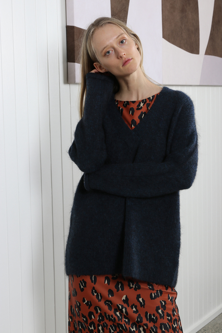 Ganni Callahan Sweater - Total Eclipse