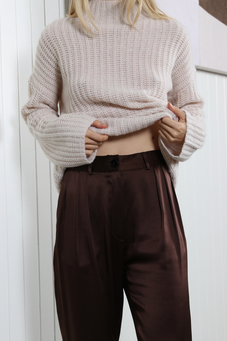 No.6 Justin Pleated Pant - Chocolate
