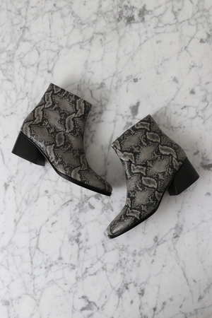 No.6 Jackson Ankle Boot - Grey Snake