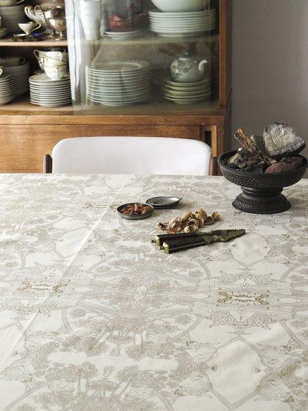erica tanov botanicus tablecloth - natural/gold