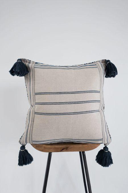 Karu Homestead Linen Tassel Cushion