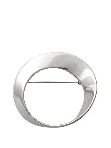 Vintage Beth Inverted Circle Pin - Sterling Silver