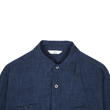 3Sixteen 15y Selvage Chambray Workshirt - Shadow