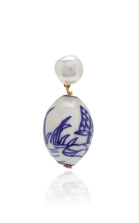 SVNR Belitung Earring - Porcelain/Pearl
