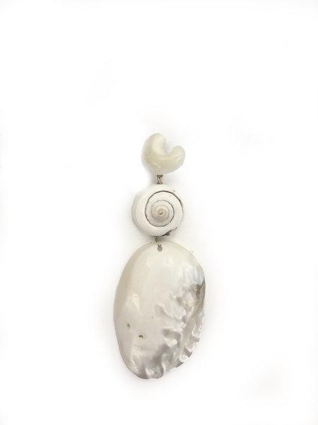 SVNR Boca Paila Earring - Baroque Pearl/Shell