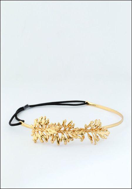Belart Gilded Leaves Headpiece - GOLD