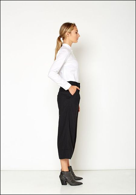 Even If Cropped Wide Leg Pant - BLACK