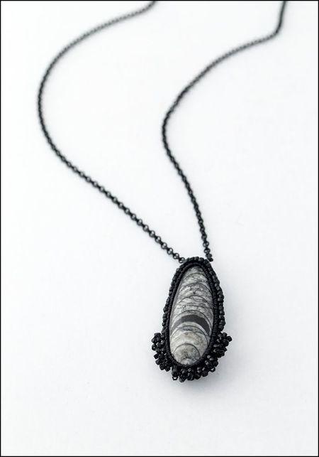 Jacki Holland Orthoceras Fossil Necklace