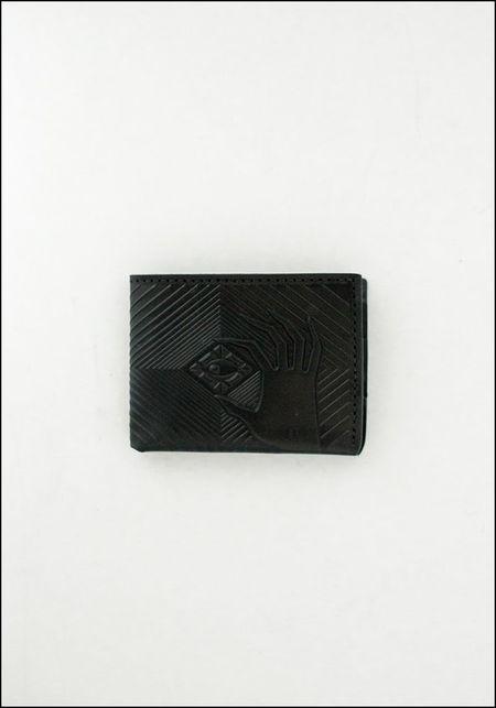 Animal Handmade Embossed Leather Deep Diver Wallet - BLACK