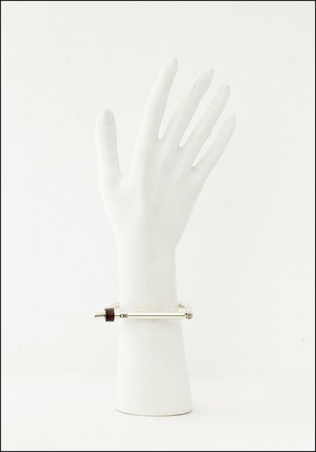 CXC Leather U Bar Bracelet