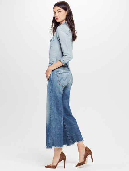 Mother Denim The Stunner Roller Ankle Chew - Be Careful What You Pray For Jeans
