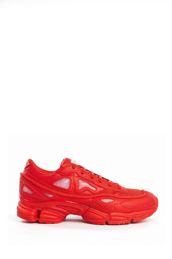 Men's Adidas x Raf Simons Red Ozweego 2 Sneaker