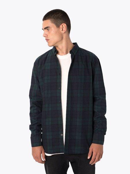 Zanerobe Flannel Long Sleeve Shirt - Ink/Forest