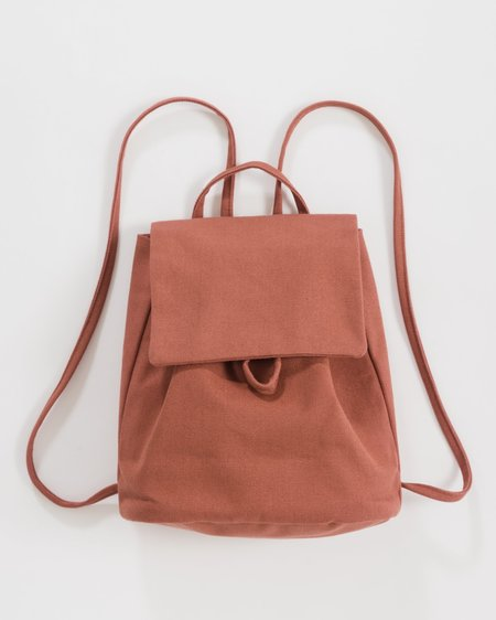 BAGGU Canvas Mini Backpack - Terracotta