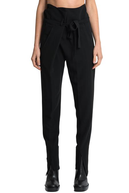 Ann Demeulemeester Wool Viscose Trousers - Black