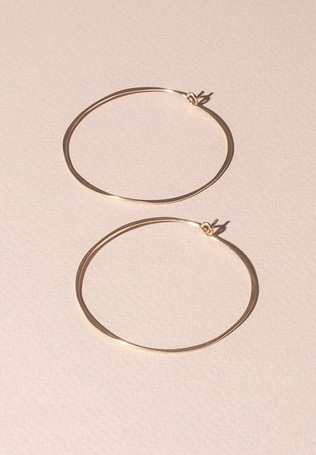 Fail Jewelry Thin Round Hoop - 14K Yellow Gold Fill