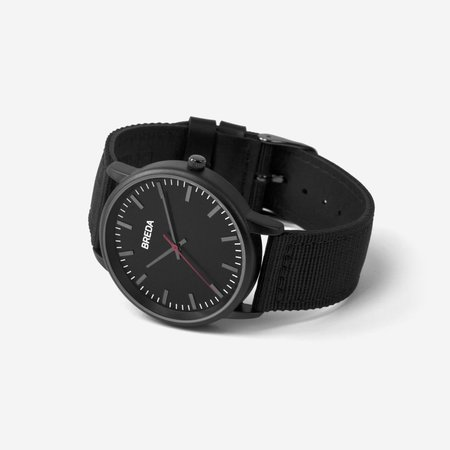 Breda Valor  Watch - Black/Black