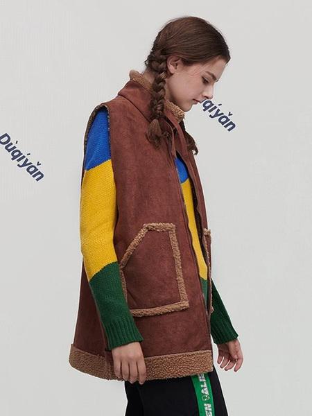 Unisex DUQIYAN Original Designer Brand Antique Vest - Brown