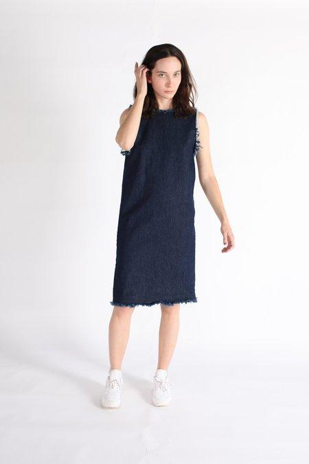 Ashley Rowe Shell Dress - Dark Denim