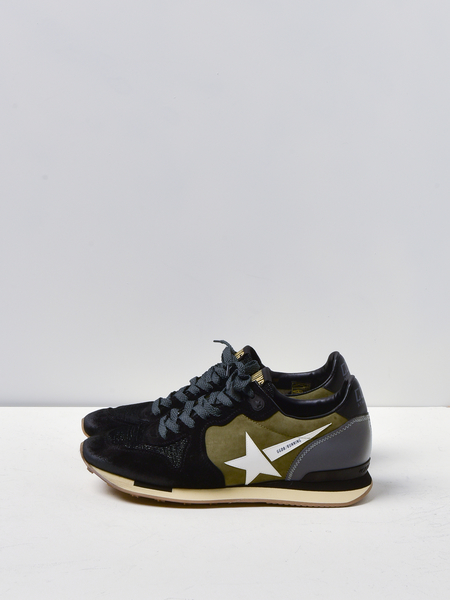 GOLDEN GOOSE DELUXE BRAND RUNNING SNEAKERS - GREEN/BLACK REFLEX
