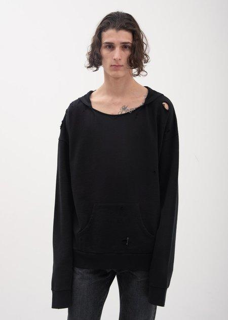 Garcons Infideles Bauhaus Distressed Hoodie - Black