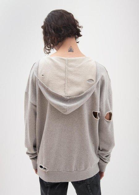 Garcons Infideles Bauhaus Distressed Hoodie - Grey