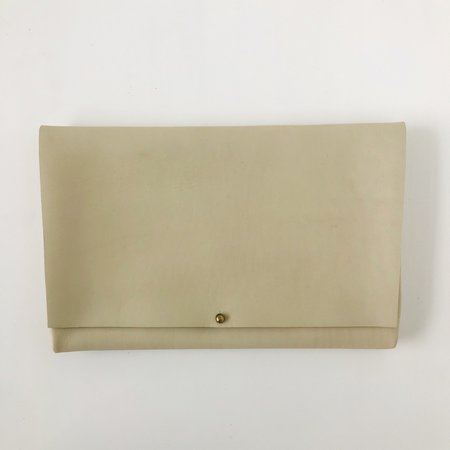 ARA Handbags Long Fold Over Clutch - Beige