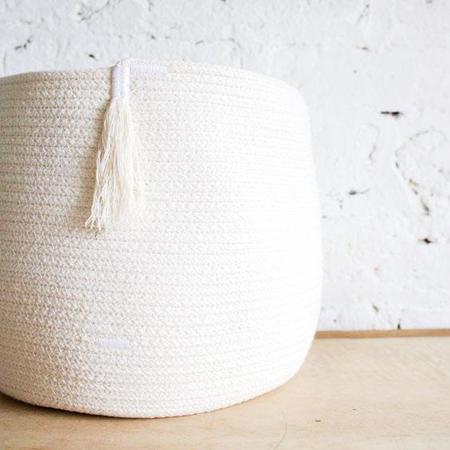 Knot+Stitch Biodegradable Small Cotton Rope Coil Basket