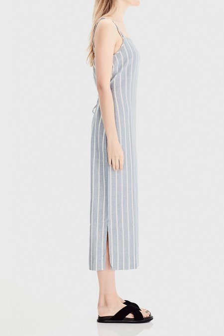COMMONERS Linen Sun Dress - Blue Stripe