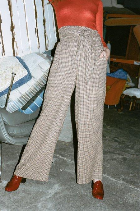 Nanushka Private Pants - Houndstooth Check