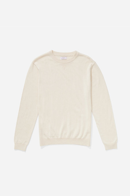 Saturdays NYC Everyday Classic Sweater - Ivory