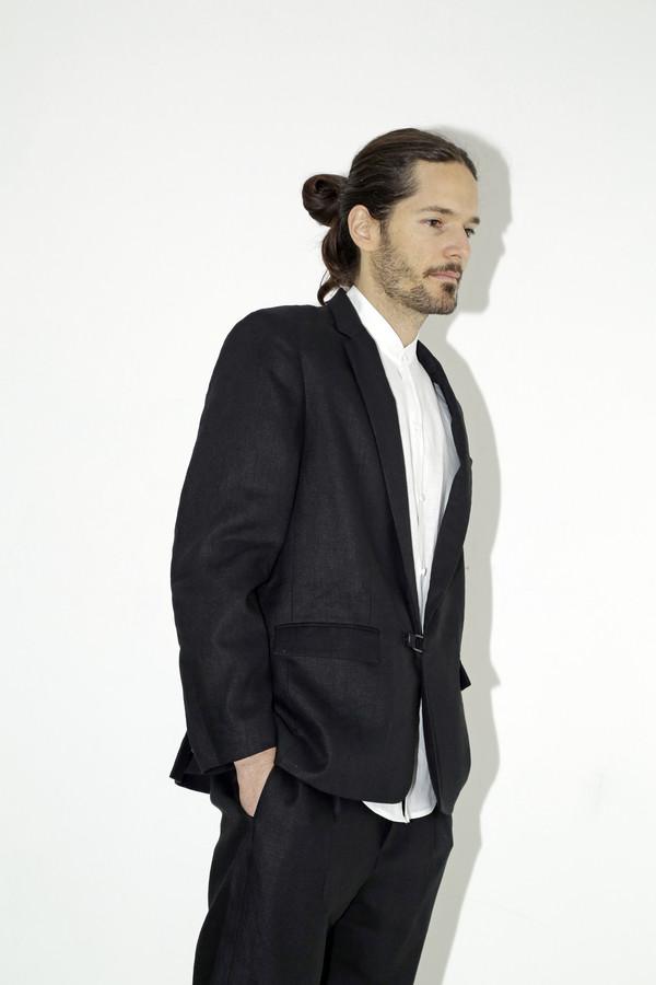 Black Linen Suit Jacket