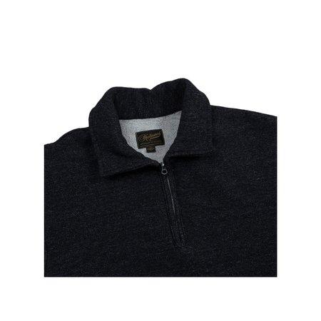 Men's National Athletic Goods 1/4 Zip Campus Mock Twist Fleece - Black