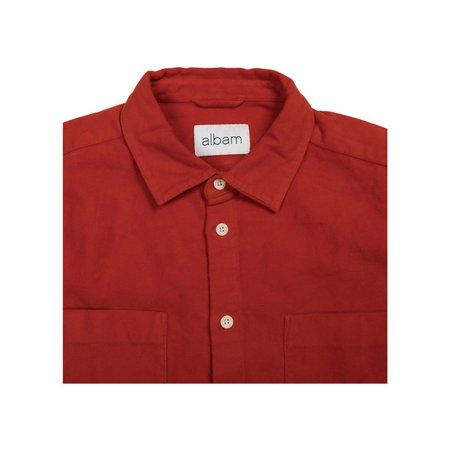 Albam Nash Moleskin Shirt - Burnt Orange