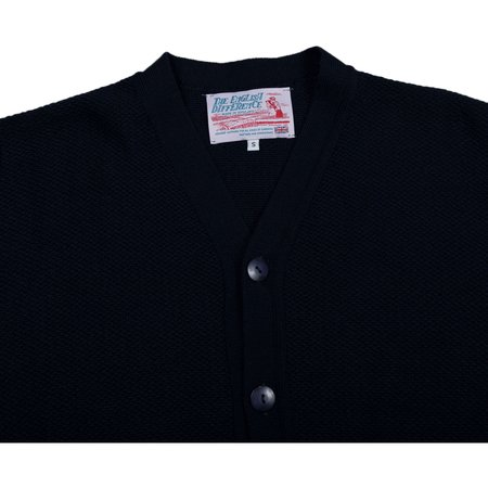 Garbstore The English Difference Reverse Cardigan - Navy