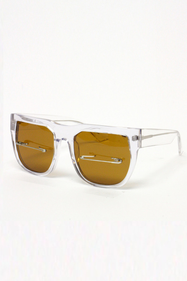 Percy Lau Clear Acetate Sunglasses