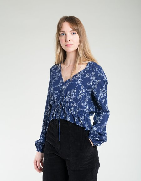 Rollas Angie Dahlia Blouse - Navy