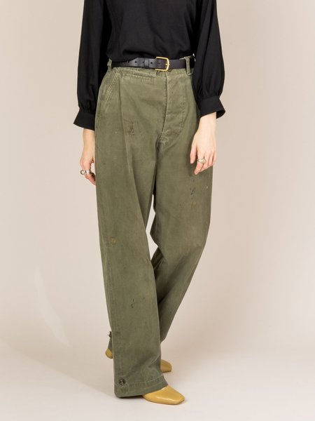 Shop Boswell Vintage Work Pants - Olive Green