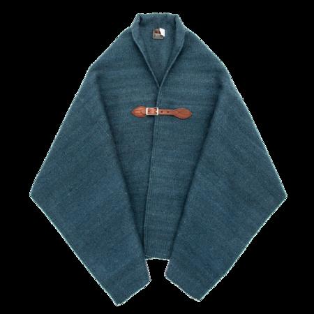 Unisex Chamula Merino Wool Blanket Poncho - Dark Indigo