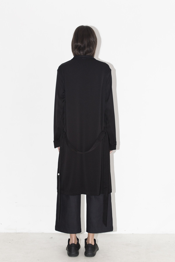 David Michael Black Woven Robe