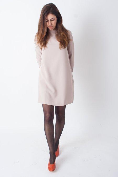 KAAREM Pure 3/4 Mockneck Petite Dress Petite - Cream