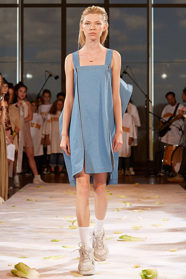 Eckhaus Latta Blue Tarp Dress