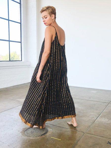 Aish Sultan Slip Dress - Black/Gold